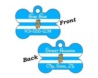 Disney Gus Gus Cinderella Double Sided Pet Id Tag for Dogs and Cats Personalized w/ 4 Lines of Text