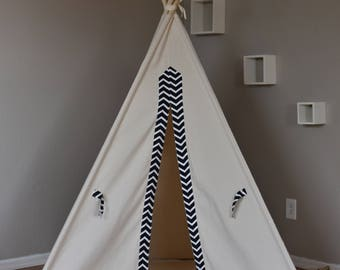 Arrow Canvas Kids Teepee, Kids Play Tent, Childrens Play House, Tipi,Kids Room Decor