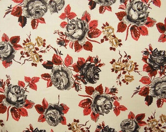 """Decor Fabric, Beige Fabric, Floral Print, Sewing Crafts Accessories, Quilting Fabric, 42"""" Inch Cotton Fabric By The Yard ZBC7982B"""