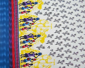 """Indian Designer Fabric, Floral Print, White Fabric, Home Decor Cotton Fabric, Dress Material, 41"""" Inch Apparel Fabric By The Yard ZBC5649B"""