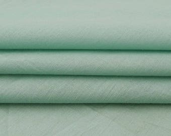 "Sea Green Fabric, Quilt Material, Handmade Cotton Fabric, Sewing Accessories, 41"" Inch Home Decor Fabric By The Yard PZBC14B"