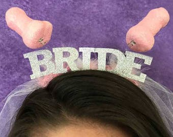 Bachelorette Veil, Penis Crown, Bride To Be, Headband, Crown, Bachelor Veil, penis headband, Bride Crown, Groom Crown, Bachelorette Party