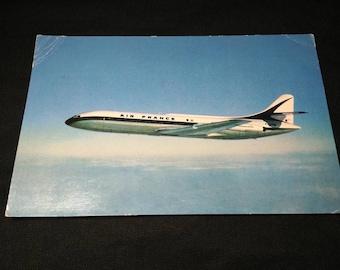 Air France Caravelle Post Card 1961