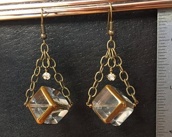 Glass Cube Earrings