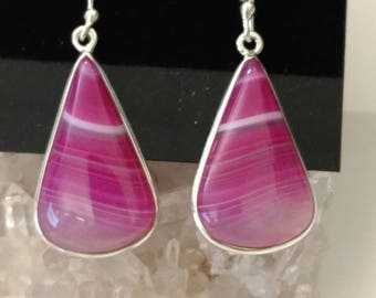 Pretty Pink Botswana Agate Earrings