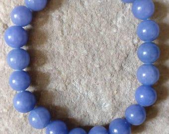 Stunning Malaysian Jade semi precious gemstone 8mm beaded bracelet