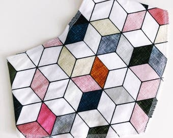 Pink Geometric Bib
