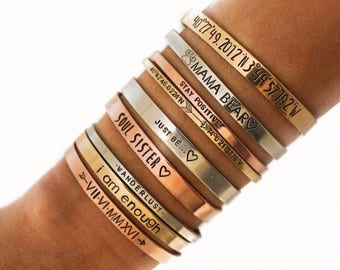 Custom Bracelet Personalize Cuff Band  Bracelet Bible Verse Bracelet Scripture Custom Saying Custom Quote Bracelet Personalized Quote