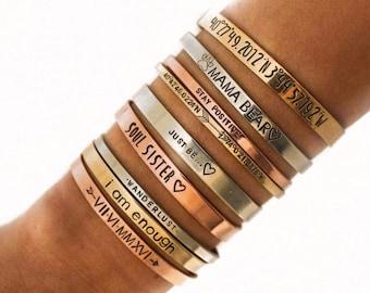 Custom Bracelet Personalize Cuff Band  Bracelet Bible Verse Bracelet Scripture Custom Saying Custom Quote Bracelet Personalized Quote