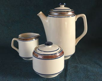 Vintage Salem Georgetown Coffee Service, Coffee Pot, Sugar Bowl and Creamer