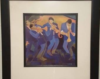 """Jam Session """"Trumpetopia"""" by Andrea Boff Original Print!"""