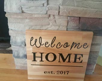 Welcome home, closing on home gift, realtor to buyer gift, realtor gift, new home gift, housewarming present, personalized welcome home sign