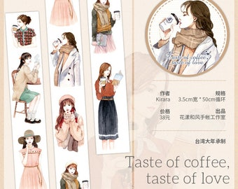 Washi tape Girl Washi Taste of Coffee Taste of Love Journaling Scrapbooking