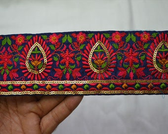 Saree Border Fabric Trim By The Yard Embroidered Wholesale Trimmings Ribbon Indian Sari Border gold indian trim