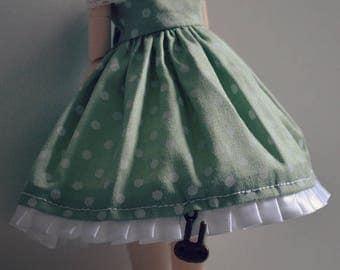 Pullip - Green polka dot dress