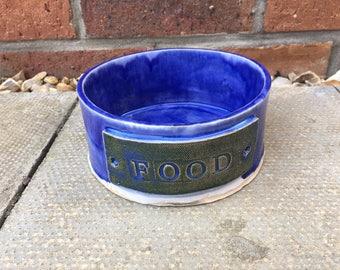 Dog Bowl/ Ceramic Dog Bowl/Rustic Dog Bowl/ Gift for a Dog / Pet Feeder / Handmade Gift