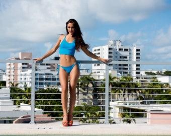 Women's Swimwear - Crop Bikini or Workout Top + Brazilian Cut Bottom