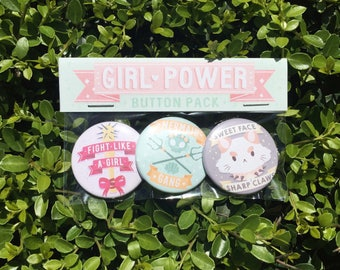 Girl Power - Button Pack