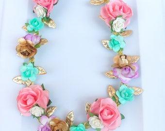 Baby girl flower crown ,flower crown ,birthday crown