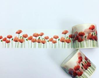 Poppy washi tape