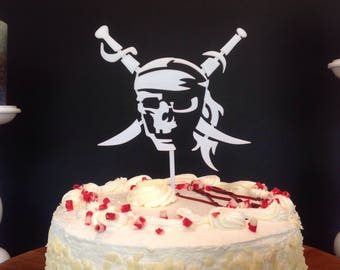 Pirates of the Caribbean Jack Sparrow Cake Topper