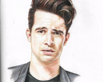 Panic! at the Disco art - Brendon Urie portrait drawing