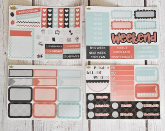 NO CODES PLEASE! Modern Mint Mini Kit | Made to fit any planner! 613L