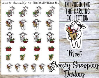 Grocery Shopping Darlings Planner Stickers