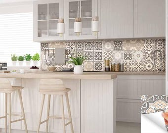 Carrelage Stickers Ideas Bathroom Tile Sticker Set Of 24 Tiles Decal Mixed  Tiles For Walls Kitchen Part 42
