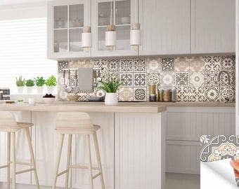 Carrelage Stickers Ideas Bathroom Tile Sticker Set Of 24 Tiles Decal Mixed  Tiles For Walls Kitchen