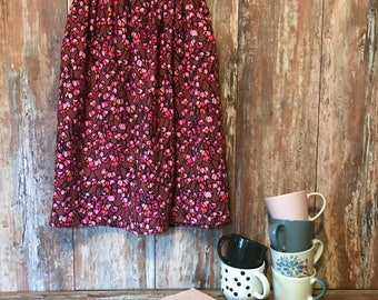 Orange berriers skirt with elastic