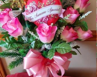 Valentine's Cemetery Flower