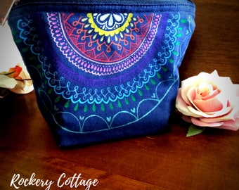 Personalised bag, custom bag, bridesmaid bags, makeup bag, mandala bag, hand painted bag, fabric pouch, pencil case, custom pouch, travel