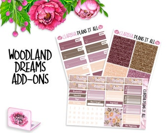 Woodland Dreams Date Covers/Glitter headers/work stickers add ons