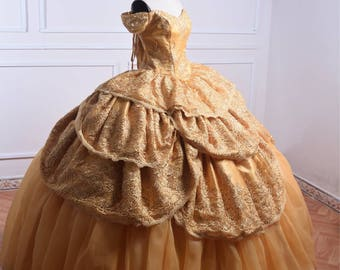 Belle Dress - Belle costume - Beauty and the Beast - Disney Princess - Bell Adult costume