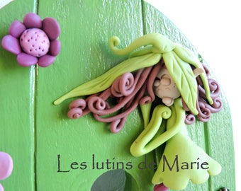 Personalized door green. invite fairies to enter your home!