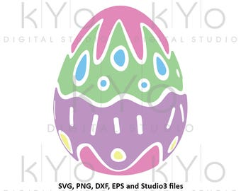 Easter Egg SVG Easter SVG cut files for Cricut Explore Silhouette Cameo Patterned egg svg