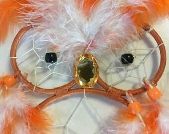 Orange Owl Dreamcatcher