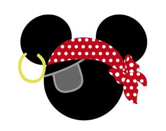 Pirate Mickey and Minnie Heads - svg files