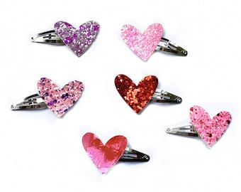 Mini Heart Snap Clips - Valentine's Day Clips - Photo Props