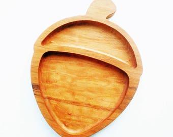 Acorn breakfast board - frühstücksbrett - German sandwich board - toddler snack board - wooden breakfast board - Waldorf - Easter gift