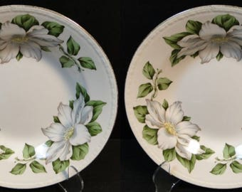 TWO Homer Laughlin Eggshell Georgian Cotillion Soup Bowls Set of 2 EXCELLENT!