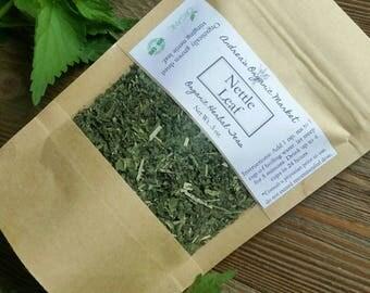 Organic Nettle Leaf, Organic Dried Herb, Loose Leaf Tea Herb, Stinging Nettles, Organic Herbal Tea, Vegan, Natural Dried Herbs