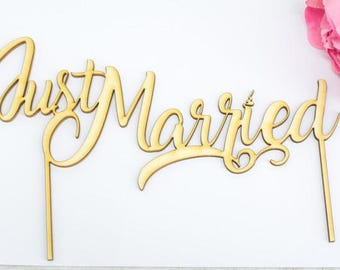 Rustic Cake Topper Just Married Wedding Cake Topper Rustic Wedding Cake Toppers  Wedding Topper Mr Mrs Just married Burlap Wedding