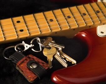 Guitar Pick Keychain / Guitar Pick Case Holder / Guitar Player Gift
