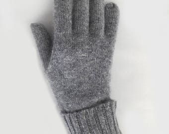 100% CASHMERE classic gloves. Women cashmere gloves. Grey gloves. Gloves. Women gloves. Winter gloves. Cashmere gloves women.
