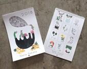 2018 Wall calendar with illustrations of imaginary animals and nature by Nana Sakata
