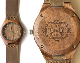 Anniversary Gift, Wood Watch, Men's Watch, Custom Watch,   Personalized Gift, Husband Gift, Engraved Watch, Wooden Watch, Wood Watches, Oak