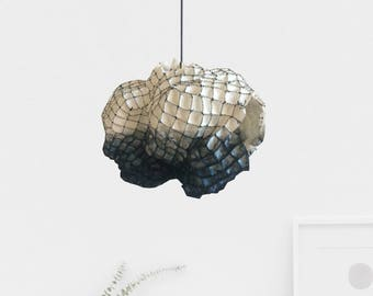 Modern Rustic cocoon chandelier-dining light-cocoon pendant lighting-rustic lighting-hanging lamp-rustic chandelier-wood lampshade
