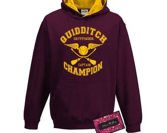 Kids Harry Potter Inspired Hoodie - Quidditch House Champion